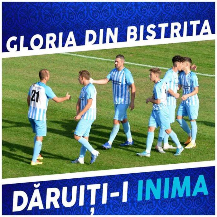 Fotbal: Gloria poate trece pe locul doi, dar sâmbătă are meci dificil cu SCM Zalău!