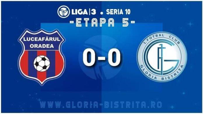 Fotbal: Gloria face un rezultat acceptabil la Oradea – niciun gol marcat în partidă
