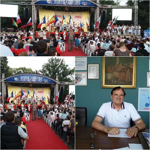 Diplomă de excelență și Insigna de Aur a municipiului Bistrița, acordate prof. dr. Dorel Cosma