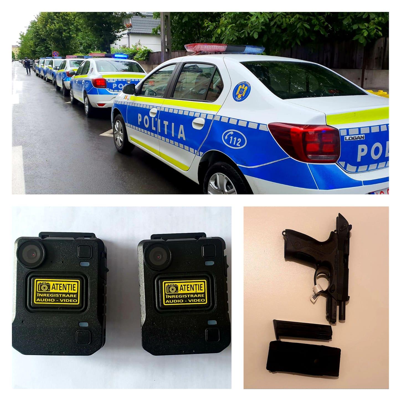 Dotări noi pentru polițiștii bistrițeni: autospeciale, pistoale și body-camera!