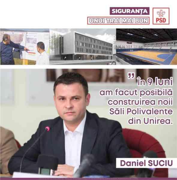 """Daniel Suciu (PSD): """"La Bistrița se construiește una dintre cele mai frumoase săli polivalente din țară"""""""