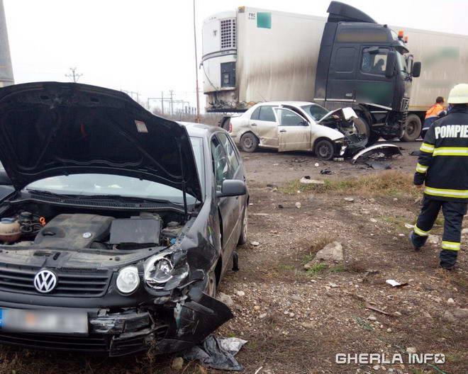 FOTO: Ghinion pentru o tânără șoferiță bistrițeancă pe șoselele din județul Cluj